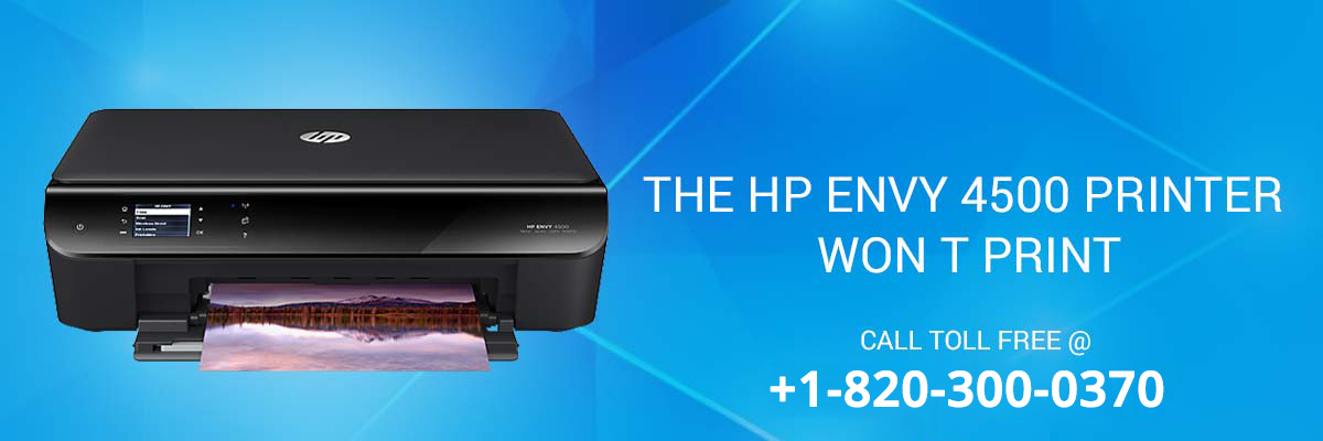 HP Envy 4500 printer won't print
