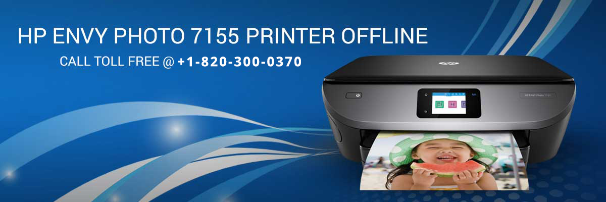 HP Envy Photo 7155 printer offline